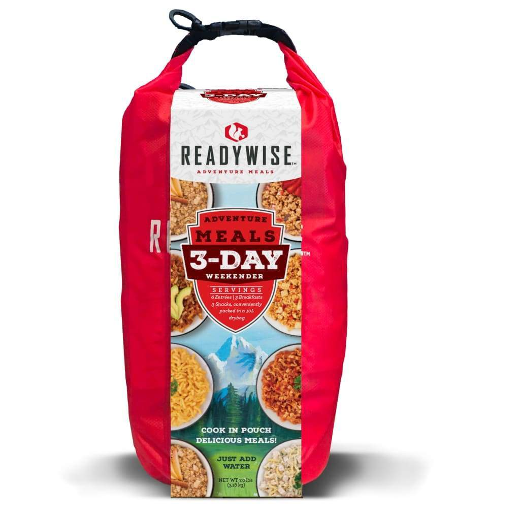 3 Day Weekender Food Kit with 10L Dry Bag | MRE Kit-Emergency Food Kits-Solar Sporting Goods