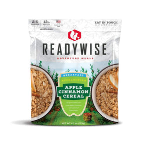Wise Foods Appalachian Apple Cinnamon Cereal Meals Read to