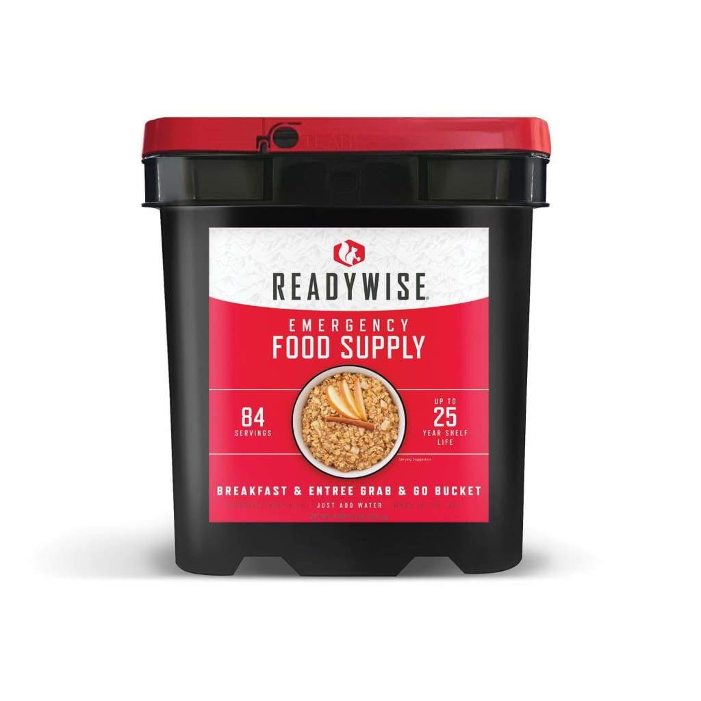Emergency Freeze Dried Breakfast & Entree Bucket 84 Servings | MRE | Wise Company-Emergency Food Kits-Wise Foods-Solar Sporting Goods