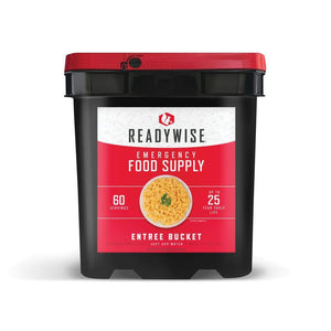 Emergency Freeze Dried Entree Bucket 60 Servings | MRE Kit | Wise Foods-Emergency Food Kits-Solar Sporting Goods