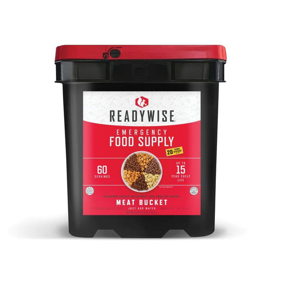Emergency Freeze Dried Meat - 60 Servings | MRE Kit | Wise Foods-Emergency Food Kits-Solar Sporting Goods