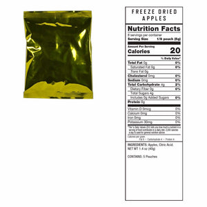 Gluten Free Emergency Freeze Dried Fruit 120 Servings | MRE