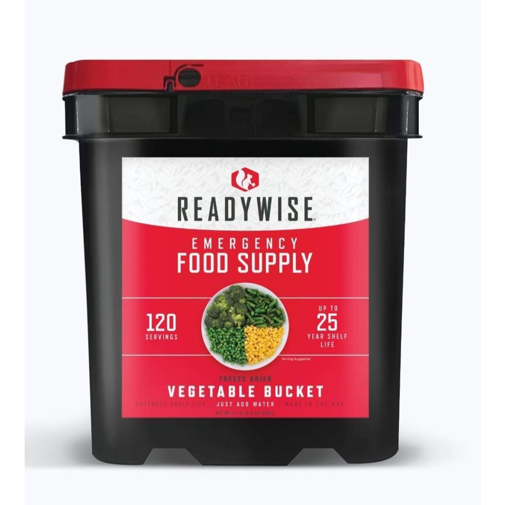 Gluten Free Emergency Freeze Dried Vegetable 120 Servings | MRE Kit | Wise Foods-Emergency Food Kits-Solar Sporting Goods