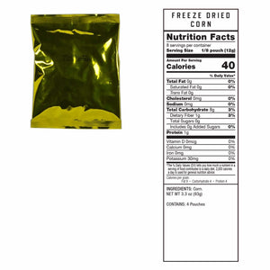 Gluten Free Emergency Freeze Dried Vegetable 120 Servings |
