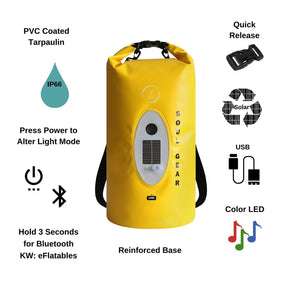 SOUL GEAR Waterproof Dry Bag With Solar Wireless Bluetooth Speaker Functions