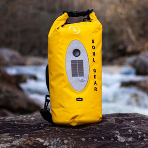 SOU Gear Waterproof Dry Bag Bluetooth Speaker By The River