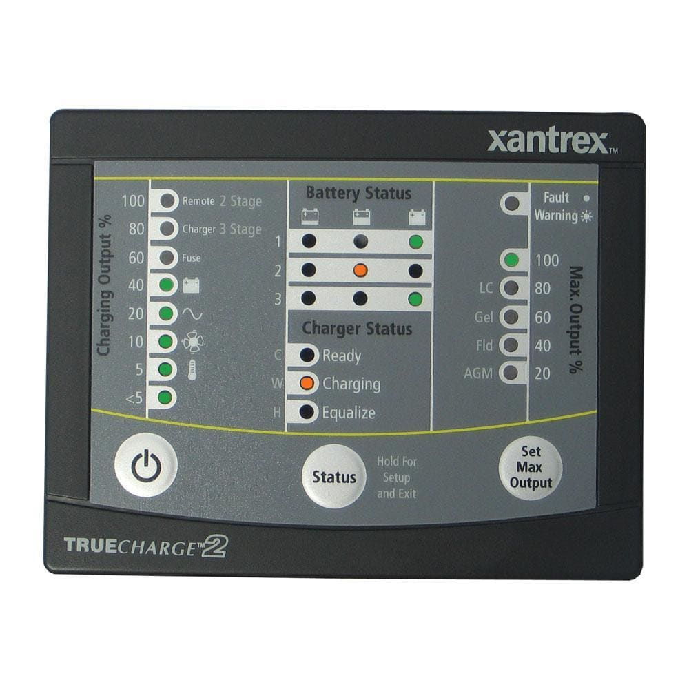 Xantrex TRUECHARGE2 Remote Panel f-20 & 40 & 60 AMP (Only for 2nd generation of TC2 chargers) [808-8040-01]-Meters-Xantrex-Solar Sporting Goods