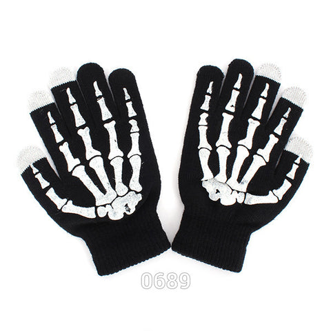 *FREE PLUS SHIPPING* Touch Screen Skeleton Gloves