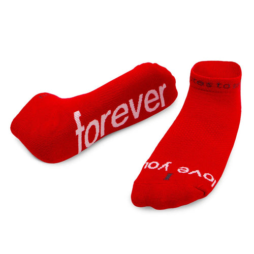 'I love you forever'™ red low-cut socks