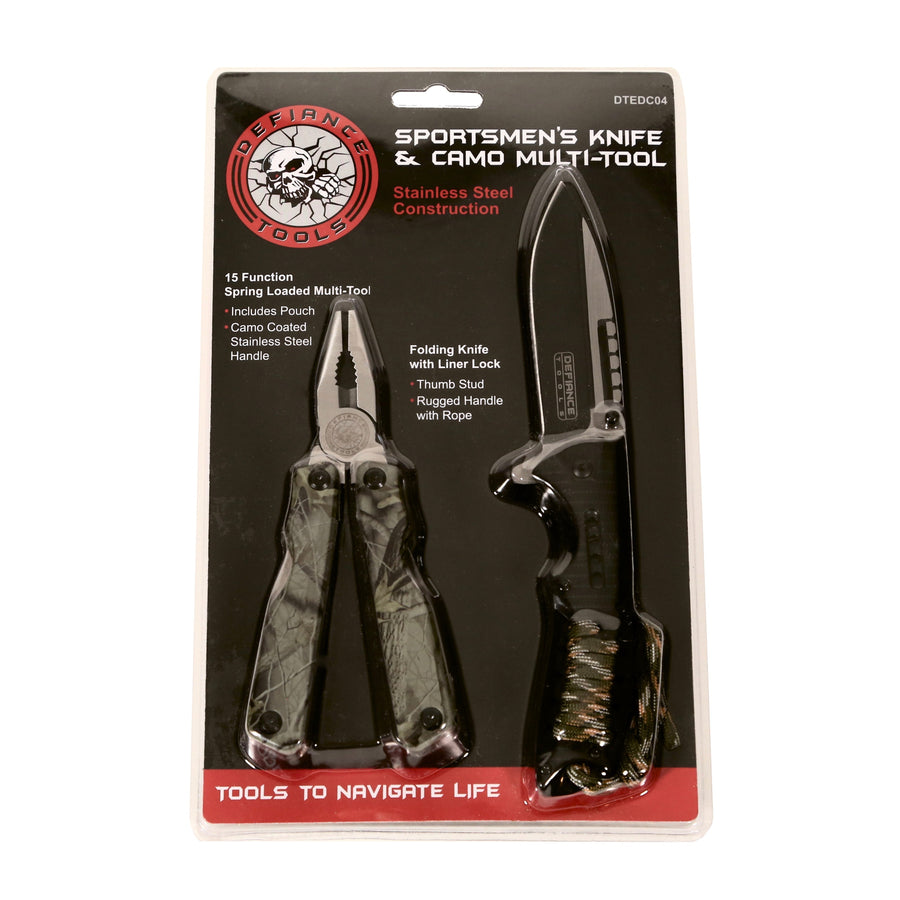 Defiance Tools Sportsmen's Multi Tool Combo