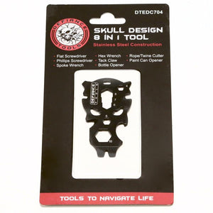 Defiance Tools Skull Design 8 in 1 Tool