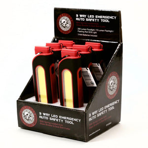 Defiance Tools 3 Way LED Emergency Auto Safety Tool display