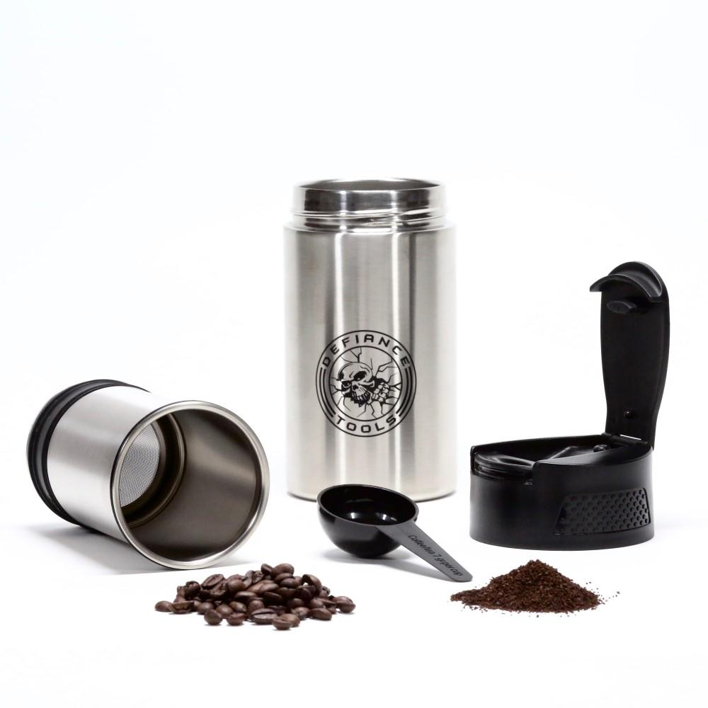 Defiance Tools On-The-Go Insulated Coffee Press is Light Enough for Hiking or Camping