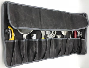 Defiance Tools waxed canvas tool roll from CLarboard for bar tools