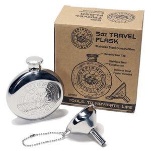 defiance tools 5 oz travel flask and funnel