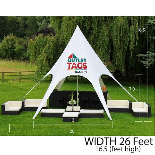 SINGLE PEAK STAR TENT - 26 FT & STAR TENTS u2014 OUTLET TAGS CANOPIES CANADA