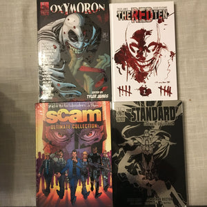 $20 Hardcovers! (THE STANDARD, THE RED TEN, SCAM, OXYMORON Vol 1 Anthology)