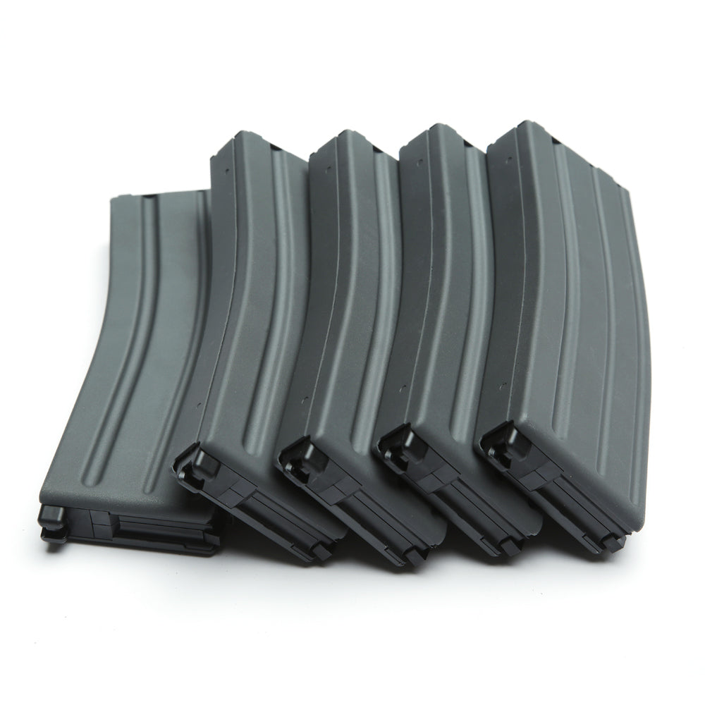 30/60 Rounds Light gray Steel Magazine 5 Pack GBLS DAS GDR 15 M4A1 Airsoft Gun