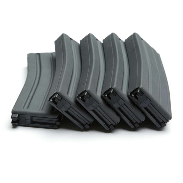 30/60 Rounds Light gray Steel Magazine 5 Pack GBLS DAS GDR 15 M4A1