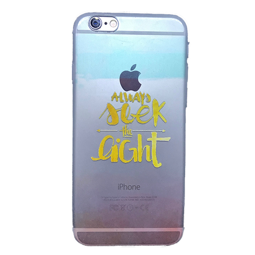 Funda para celular iPhone - Always seek the light