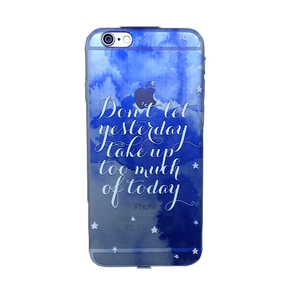 Funda para celular iPhone - Don't let yesterday