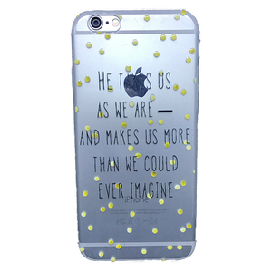 Funda para celular iPhone - He takes us as