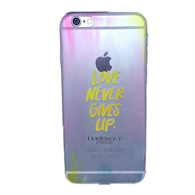 Funda para celular iPhone - Love never gives up