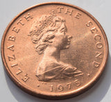"1975 Isle of Man one penny 1P ""Celtic Cross"" uncirculated BU coin"
