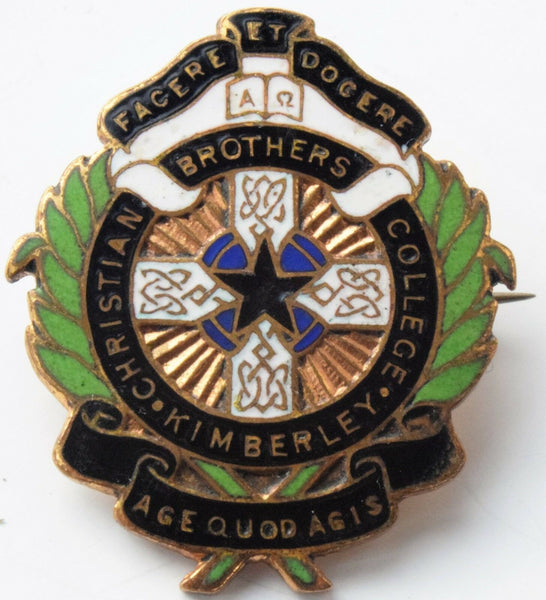 CATHOLIC SCHOOL BADGE; CHRISTIAN BROTHERS college Kimberley South Africa
