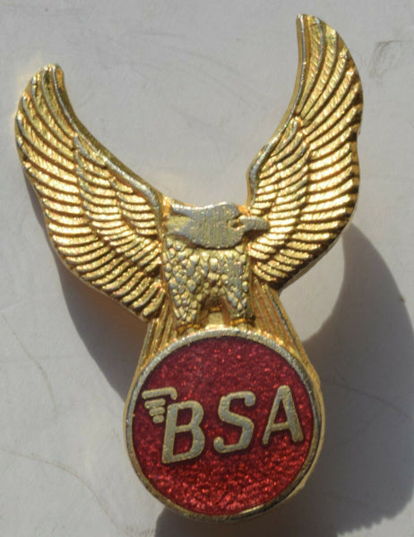 BSA  MOTORCYCLE ENAMEL MOTORBIKE BRITISH BIKE  EAGLE BADGE