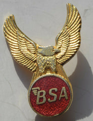 BSA  MOTORCYCLE ENAMEL MOTORBIKE BRITISH BIKE  EAGLE BADGE - Confessor the shop for all Collectables Coins Badges Banknotes Medals Tokens militaria
