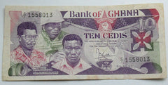 Ghana 10 Cedis 1984  Banknote - Confessor the shop for all Collectables Coins Badges Banknotes Medals Tokens militaria
