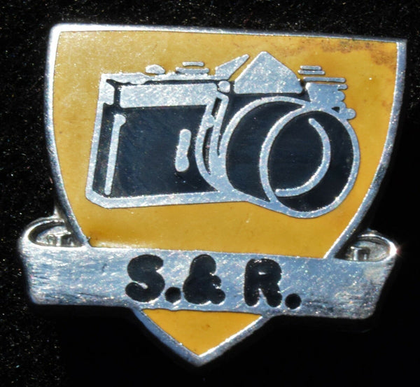 Vintage Camera SLR  Logo Pin Badge