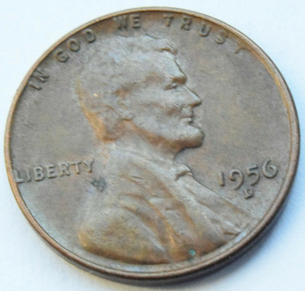 1956 D United States of America Lincoln - One Cent Coin
