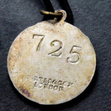 Rare 1930s the Stadium Club, London members boxing pendant badge no 725