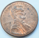 2001 United States of America Lincoln - One Cent Coin