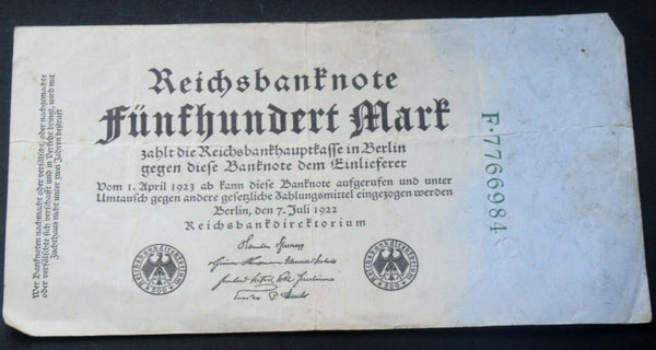 1923 Germany 50,000 Mark banknote