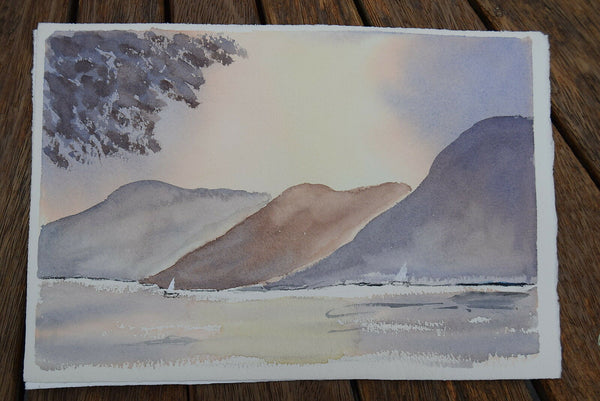 original watercolour lake district by Wet-into-Wet artist author Bryan Thatcher