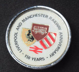 1980 LIVERPOOL & MANCHESTER RAILWAY 150TH ANNIVERSARY - METAL PIN BADGE
