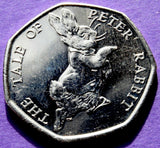 2017 Peter Rabbit 50p fifty pence BU Coin Brilliant Uncirculated Beatrix Potter