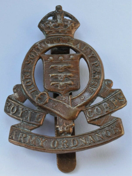 KC RAOC, ROYAL ARMY ORDNANCE CORPS CAP BADGE
