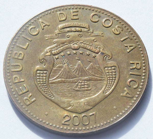 2007 COSTA RICA - 500 Colones Brass plated steel coin