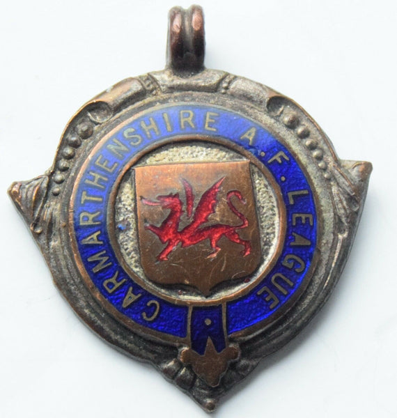 Antique Carmarthenshire A.F. League Football Medal - Runners-up 1952-3