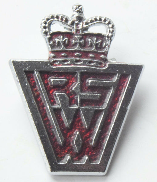 ERII WOMENS ROYAL VOLUNTARY SERVICE/ WRVS ENAMEL/CHROME BADGE