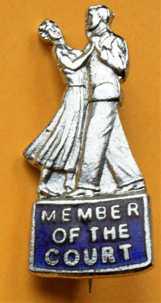 national assc of dancing teachers MEMBER OF THE COURT ENAMEL badge