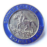 RARE 1970s SUMMER SOLSTICE 100 MILES IN A DAY RACE EHPS ENAMEL BADGE