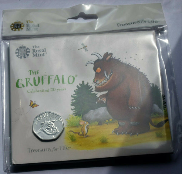 2019 Royal Mint The Gruffalo BU 50p Fifty Pence UK Coin Pack Sealed