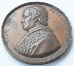 PAPAL STATES - Pius IX (1846-78)  ELECTUS DIE 16TA JUNII/ MDCCCXLVI Medal - Confessor the shop for all Collectables Coins Badges Banknotes Medals Tokens militaria