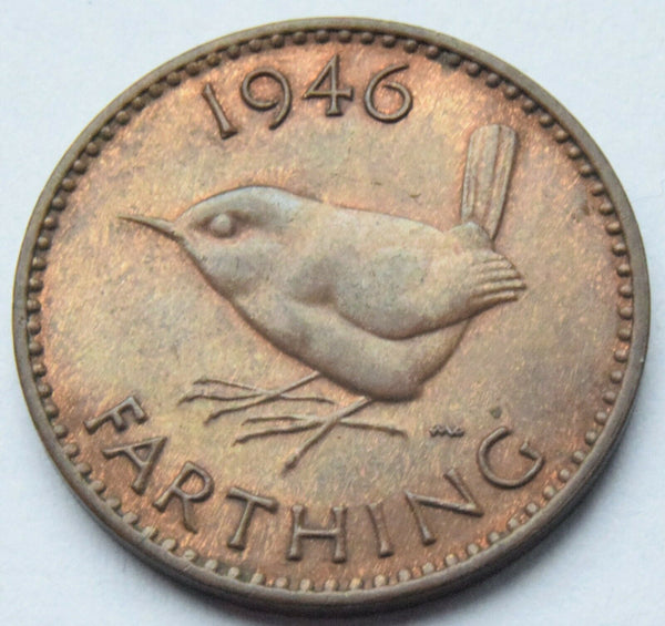 1946 Great Britain King George VI Farthing high grade UK Coin