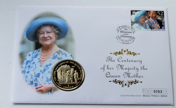 2000 Isle of Man Century of  Queen Mother Crown coin cover